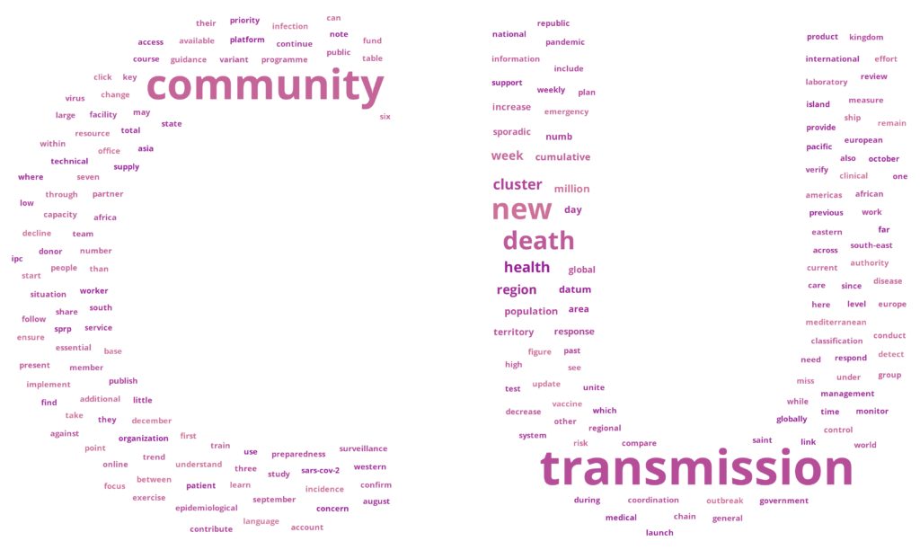 Word Cloud of WHO's Weekly Reports